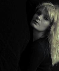 Light and shadows 2 (WhiteAnGeL <3) Tags: light portrait woman me female self hair eyes nikon shadows year 2012 d90