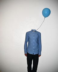 Losing My Head (Matthew_Bradley) Tags: blue portrait art photoshop self nikon arty head balloon floating away losing 365days