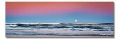 Big Moon (Matthew Stewart | Photographer) Tags: ocean light sunset sea sky moon seascape beach sand matthew australia stewart moonrise qld queensland rise