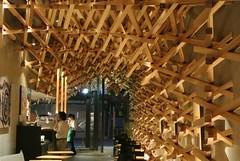 what a beautiful its inside is! (anzyAprico) Tags: beautiful shop architecture design cafe interesting interior starbucks fukuoka 2012 dazaifu kengokuma