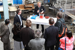 A demonstration during the Goldschmidt-Thermit Plant technical tour