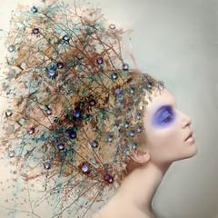 ('_ellen_') Tags: flowers ireland portrait woman purple peacock ellenmcdermottphotography hairfineart