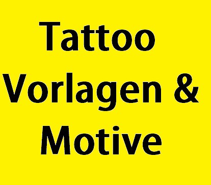Tattoo Vorlagen Motive