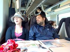 tired travel companions (Lalallallala) Tags: train friend eurostar sleep trenitalia