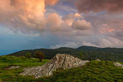Sunset Clouds From Black Balsam Knob (snapdragginphoto) Tags: sunset storm day northcarolina stormy wolves blueridgeparkway howling happyendings blackbalsamknob