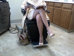 5-11-12 @ Doctor's office in SM (wildweb2011) Tags: upskirt heels tease milf pantyhose antje anklet minidress legshow