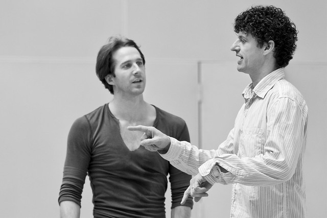 Nehemiah Kish in rehearsals with Jonathan Cope for The Prince of the Pagodas © Johan Persson/ROH 2012