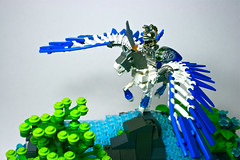 Pegasus (Close-up) (Siercon and Coral) Tags: sea horse castle flying spring wings lego pegasus fantasy knight creature moc avalonia mysticisles siercon