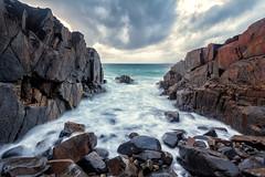 Head-To-Head [EXPLORE] (James.Breeze) Tags: sunset seascape beach clouds rocks waves australia qld queensland noosa noosaheads