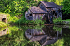 Mabry Mill (loco's photos) Tags: trees mill nature water forest landscape outdoors virginia pond scenery pentax most nik kr photographed blueridgeparkway grist mabry mabrymill meadowsofdan dal1855