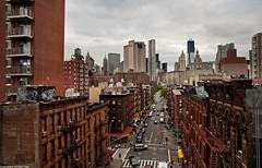 Madison Street - New York City (romvi) Tags: street city nyc newyorkcity usa newyork buildings nikon cityscape skyscrapers manhattan unitedstatesofamerica worldtradecenter perspective villa rue romain ville madisonstreet gratteciels megalopole d700 romainvilla romvi