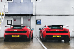 Super Trofeo Stradale. (Alex Penfold) Tags: auto camera red two cars alex sports car sport mobile canon photography eos photo cool flickr image duo awesome flash rear wing picture super spot exotic photograph silverstone spotted hyper carbon lamborghini supercar spotting exotica gallardo sportscar 2012 stradale sportscars supercars combo fibre lambo penfold trofeo spotter hypercar 60d hypercars supertrofeo alexpenfold
