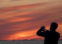Snapping the Sunset (velton) Tags: uk sunset canon lumix scotland 300d photographer jubilee scottish panasonic prestwick ayrshire cumbraes fz18 velton fz200 daarklands