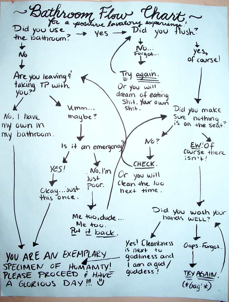 Bathroom Flow Chart: for a positive lavatory experience!