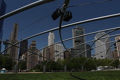 Pritzker Music Pavilion at Millennium Park, Chicago, Illinois (Mastery of Maps) Tags: park city urban chicago architecture publicspace buildings illinois downtown cityscape place skyscrapers central chitown il grantpark tall publicart millenniumpark theloop chicagoloop greatlawn highrises centralbusinessdistrict windycity pritzkerpavilion jaypritzkerpavilion publicplace downtownloop