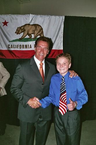 Arnold Schwarzenegger and Jacob Nelson
