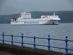 Timca sails up the Clyde heading for Greenocks  Ocean Terminal with paper reels ?? (westernsmt) Tags: river scotland clyde greenock transfennica timca