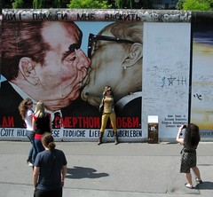 Mural on what remains of the Berlin wall (The Brotherly Kiss) (carpingdiem) Tags: berlin berlinwall