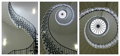 The 'Tulip' Stairs: Inigo Jones (Curry15) Tags: london triptych greenwich wroughtiron staircase spiralstairs balustrade inigojones se10 thequeenshouse gradeilisted helicalstairs thetulipstairs circa1630