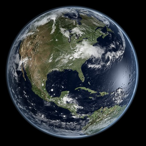 Earth - Global Elevation Model with Sate by Kevin M. Gill, on Flickr