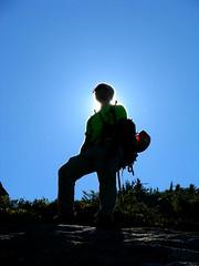 Illuminati (Dru!) Tags: canada silhouette jesse bc britishcolumbia descent illumination illuminated backlit climber enlightenment illuminati enlightened chilliwack jmace illusionpeaks illusionpeaksreversetraverse