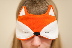 Day 25, Year 7. (evilibby) Tags: face hidden sleepy hide 25 tired blonde libby 365 hiding eyemask 1851 365days 3657 foxmask 365days7 foxeyemask