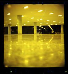 night station (pho-Tony) Tags: 120 6x6 film mediumformat toy lomo lomography urbanoutfitters failure budapest line plastic damage roll medium format dianaf scratch glitch toycameras lsi rollfilm 75mm blemish c41 redscale tetenal