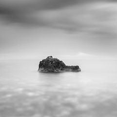 The snail (ilias varelas) Tags: longexposure light sea sky blackandwhite bw seascape water monochrome rock landscape mono mood snail atmosphere greece ilias varelas