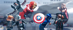 civil war airport battle (Young's Lego) Tags: black america photography photo wanda airport war lego battle ironman civil lee captain falcon hawkeye widow avengers antman kiyoung legography