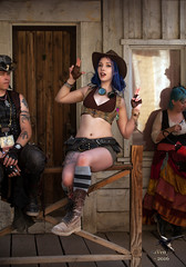 Steampunk Gunfighter Aelflaed (thePhotographerRaVen) Tags: arizona fashion tucson goggles victorian convention wildwest steampunk gunfighter steampunkgirls photosbyraven wwwc5 aelflaed