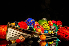 Chihuly Boat (nicoleee317) Tags: seattle sculpture black chihuly art glass colors ball dark boat washington sureal