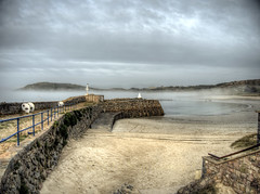 Douglas Quay and fog on Alderney (neilalderney123) Tags: beach weather fog sand quay alderney braye 2016neilhoward