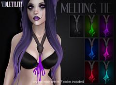 Violetility Melting Tie (Violetility) Tags: melting sl secondlife dsf tdsf originalmesh darkstylefair