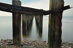 Shoebury (daveknight1946) Tags: essex shoeburyness eastbeach boom water longexposure concrete rust metal calmsea sea riverthames shingle stones posts seascape waterscape greatphotographers