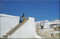 the guards (mhobl) Tags: boys stairs children morocco maroc tangier tanger tanja