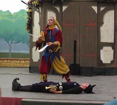 A Member of Clan Tynker Juggles Swords Over Another Member (Robb Wilson) Tags: juggling renaissance renaissancefaire irwindale jugglingact clantynker jugglingswords 2016renaissancepleasurefaire