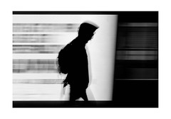 Motion in London (Fotograf aus Passion.) Tags: street city greatbritain travel light portrait england urban blackandwhite white motion black london art silhouette thames night dark europe fuji unitedkingdom fineart streetphotography illuminated gb fujifilm monochrom slowshutterspeed motions xt1 alexharbich