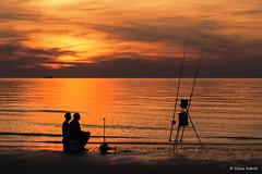 Cadzand Bad - 06051601 (Klaus Kehrls) Tags: strand meer sonnenuntergang wolken stimmung idylle angler ozean