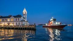 Pier A and Fireboat (DSC07691-1) (Michael.Lee.Pics.NYC) Tags: newyork night twilight fireworks sony batterypark hudsonriver bluehour fireboat piera robertwagnerjrpark a7rm2 zeissloxia21mmf28