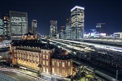 Tokyo Station ([~Bryan~]) Tags: city japan architecture night tokyo cityscape platform commercial trainstation tokyostation urbanlandscape historicalbuilding