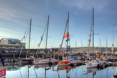 TransAt Yachts 30th April 2016 #9 (JDurston2009) Tags: reflection water sailing harbour yacht plymouth barbican devon sailingboat suttonharbour transat transatbakerly