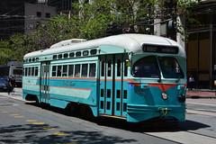 Muni F Line #1076 (Jim Strain) Tags: sanfrancisco trolley tram muni transit vehicle commuter streetcar jmstrain