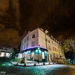France / Paris / Montmartre (Pablo A. Ferrari) Tags: street longexposure sky urban paris france architecture night noche calle arquitectura montmartre urbano francia nuit nocturne parisian parisien ruenorvins pabloferrariphotography