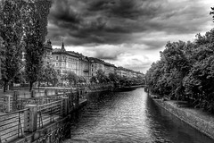 Prague (Baz 3112) Tags: city travel sky blackandwhite water monochrome architecture river landscape blackwhite cityscape prague outdoor hdr watercourse hdrphotography hdrphoto hdrcollection hdrgallery