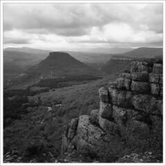 2009-05-18     (4) (Yuriy Sanin) Tags: blackandwhite 6x6 forest rocks crimea sanin    iskra yuriy