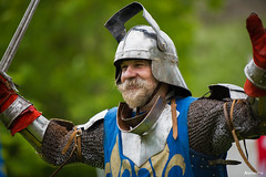 Ready for battle. (_Anathemus_) Tags: uk england west castle sussex nikon helmet plate battle medieval chain tournament armor sword d750 knight arundel 70200mm chivalry