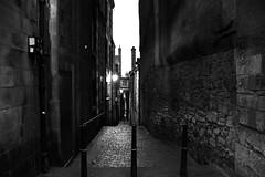 Old Town Edinburgh (Fearghl Nessbank) Tags: bw monochrome scotland blackwhite nikon edinburgh oldtown d700