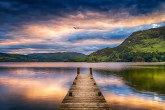 Ullswater Jetty (mpelleymounter) Tags: sky lake water clouds sunrise reflections landscape pier jetty lakedistrict earlymorning wideangle cumbria sunreflection ullswater glenridding sigma1020 woodenjetty innonthelake woodenpier cloudreflection leefilters ullswaterjetty canon7d cumbrianlandscape ullswaterpier markpelleymounter famousjetty pierthelake