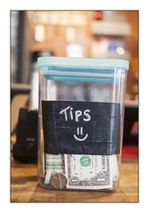 Tip Jar 38, Telegraph Cafe, NYC (Jack Toolin) Tags: city nyc newyorkcity urban newyork money tips economy economics cafes
