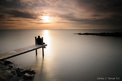 Looking at the sunset (Only Raw) (XavierSam) Tags: sunset mar mediterraneo murcia nubes rocas lightroom marinas d300 lr4 xaviersam singhraydarylbensonnd3revgrad onlyraw leebigstopper carlosjteruel